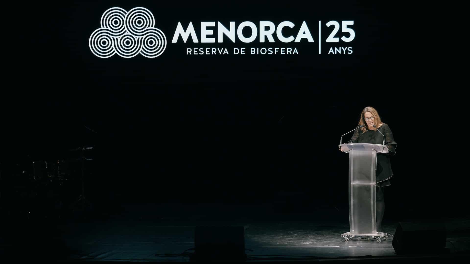 25 aniversario Menorca Reserva de la Biosfera en el Teatro Principal de Mahón